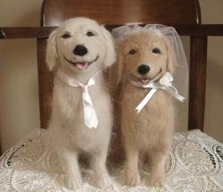 本物の犬の毛でつくっているんですよぉー