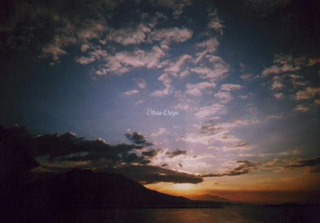 夜明けの桜島