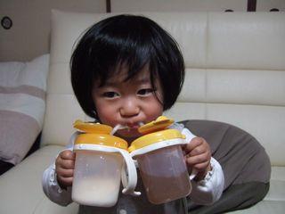 ミルクとお茶…