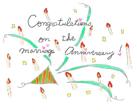 結婚記念日おめでとう!