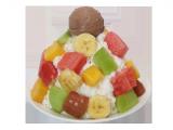 1人用フルーツミルクカキ氷withアイス