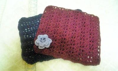 手編みの敷きマット☆