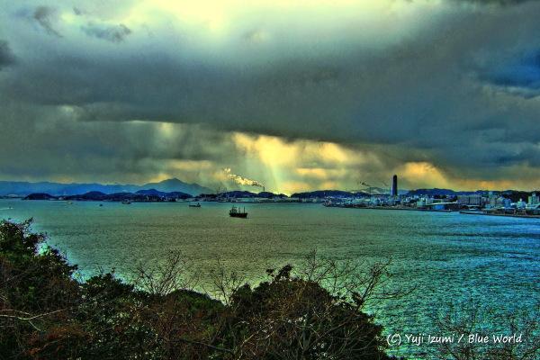 冬の関門海峡