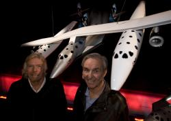 Sir Richard Branson and Burt Rutan