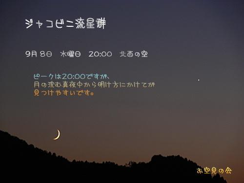 2008 10 8 ジャコビニ流星群