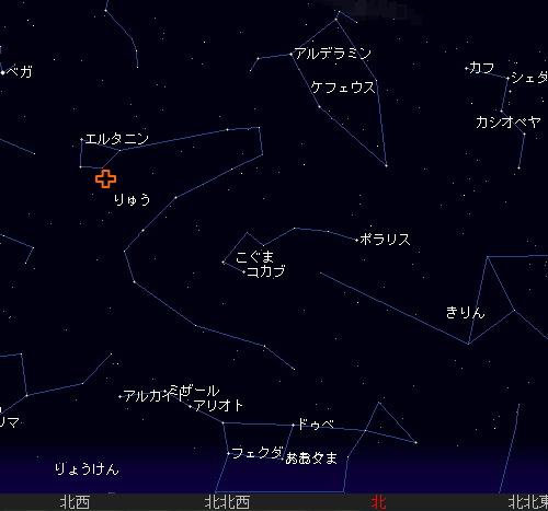 2008 10 8 ジャコビニ流星群星図