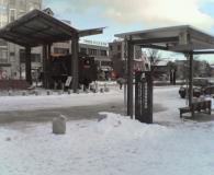 雪の茅野駅