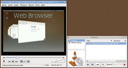 Ubuntu VLC 動画プレイヤー