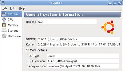Ubuntu Sysinfo システム情報 ハードウェア カーネル