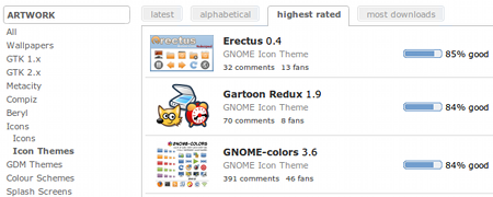 Ubuntu GNOME-LOOK アイコンテーマ