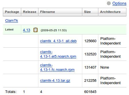 ClamTk 4.13 ウイルススキャン ダウンロード