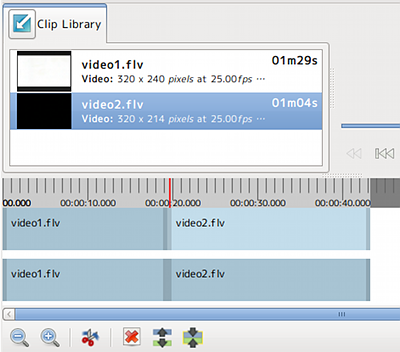 Ubuntu PiTiVi 動画編集 動画結合