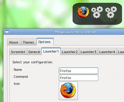 MegaLauncher Ubuntu ガジェット ランチャー登録