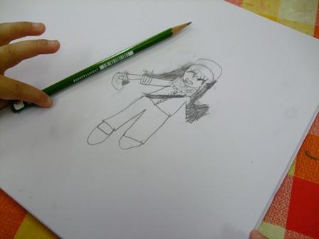 09保育参観モナ母の絵