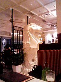 シンガプーラテラスのマーライオン。