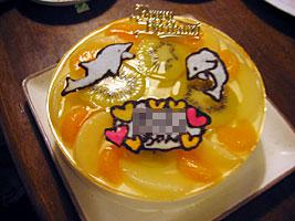 姪っ子のバースデーケーキ