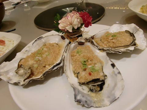 牡蠣のニンニクソース1