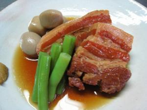 響庵大正館「豚の角煮」、ある日の肉料理2