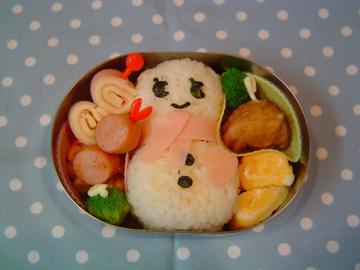 20080218雪だるま弁当