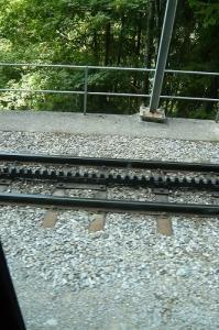 登山電車 歯車線路