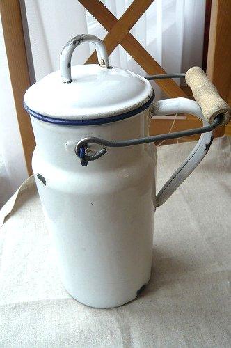ホウロウ ミルク缶