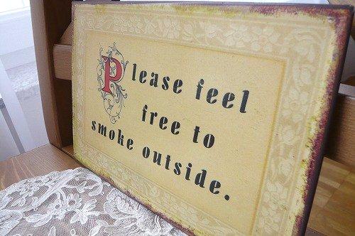 タバコは外でプレート