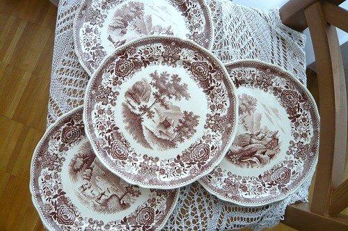 ビレロイ 茶色 皿