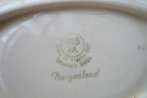 ビレロイバックスタンプ 楕円小皿