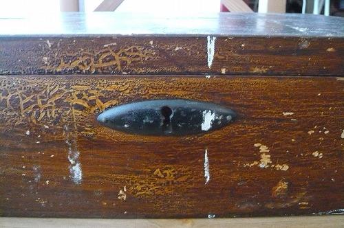 木箱 鍵穴