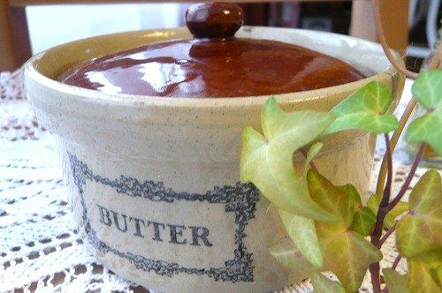 茶色陶器 Butterdose