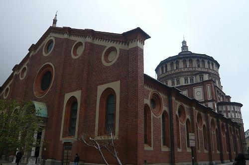 サンタマリアデッレグラツィエ教会外観