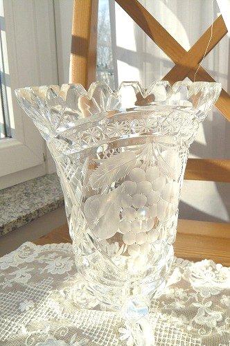 クリスタルガラス フラワーベース