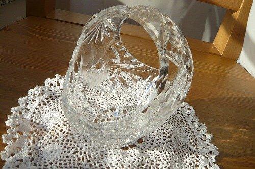 クリスタルガラス ボンボンディッシュ1