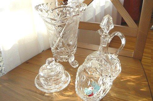 クリスタルガラスセット