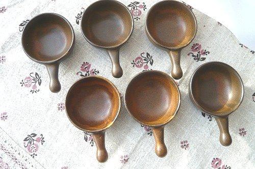 茶色のミニ皿