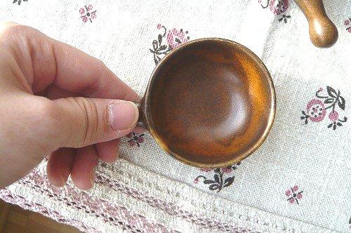 茶色ミニ皿 大きさ