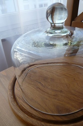 アンティークガラスケーキドーム