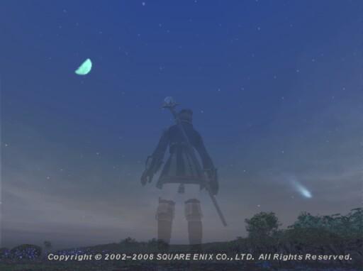 流星と月♪