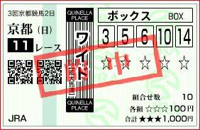 京都11R マイラーズカップ