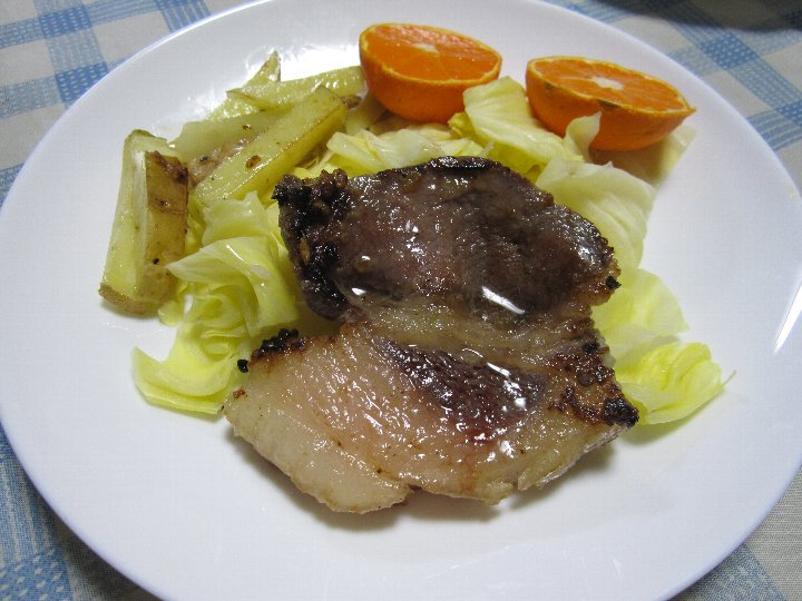 2012 02 20 猪ロースの塩麹漬け焼き-2