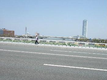 万代橋から