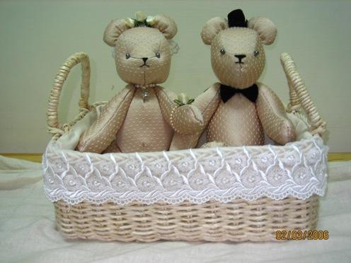 手工製婚禮熊一對 0909