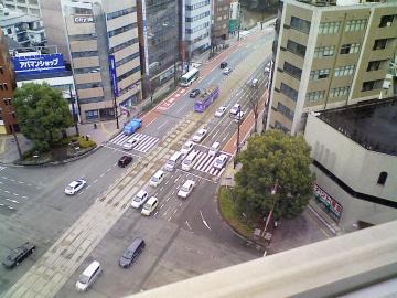 研修会場からの熊本市街
