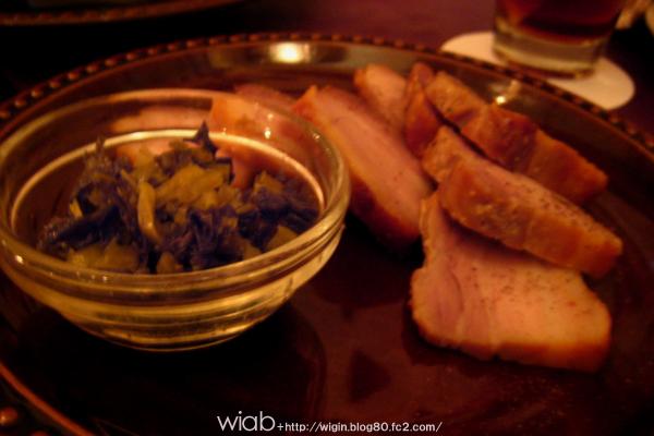 高菜と豚のスモーク