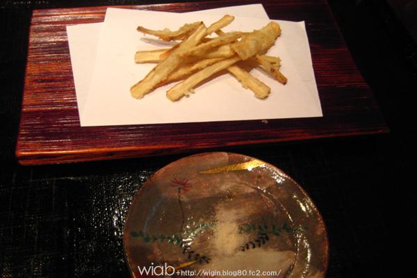 ごぼうの天ぷら☆ 今が旬なんですかねごぼうは♪
