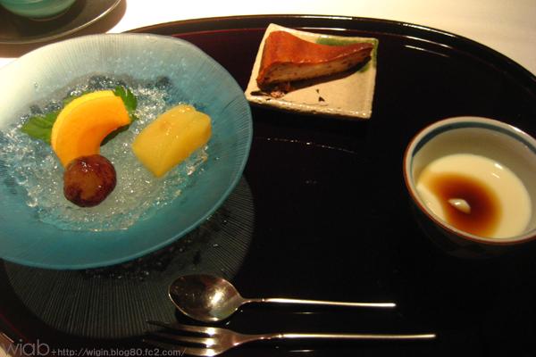 今が旬のラフランス、ブドウ、柿★ チーズケーキとプリンも♪