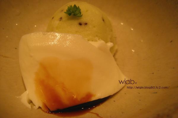 デザートでーす☆ ババロアとアイス