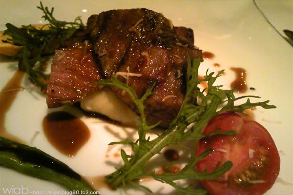 黒毛和牛のグリル 西洋わさびのソース これ美味しかった~♪ やっぱ美味しい肉は良いね☆