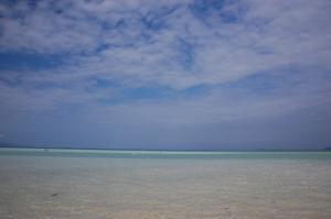 遠浅の海…とても遠浅です