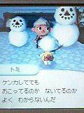 雪だるまとトミさん